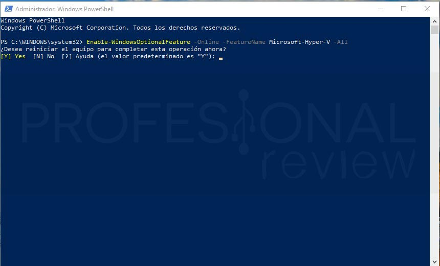 Habilitar Hyper-V en Windows 10 paso 07