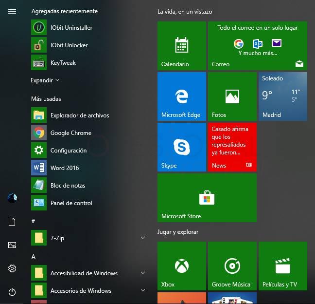 Modo avión Windows 10 paso 01