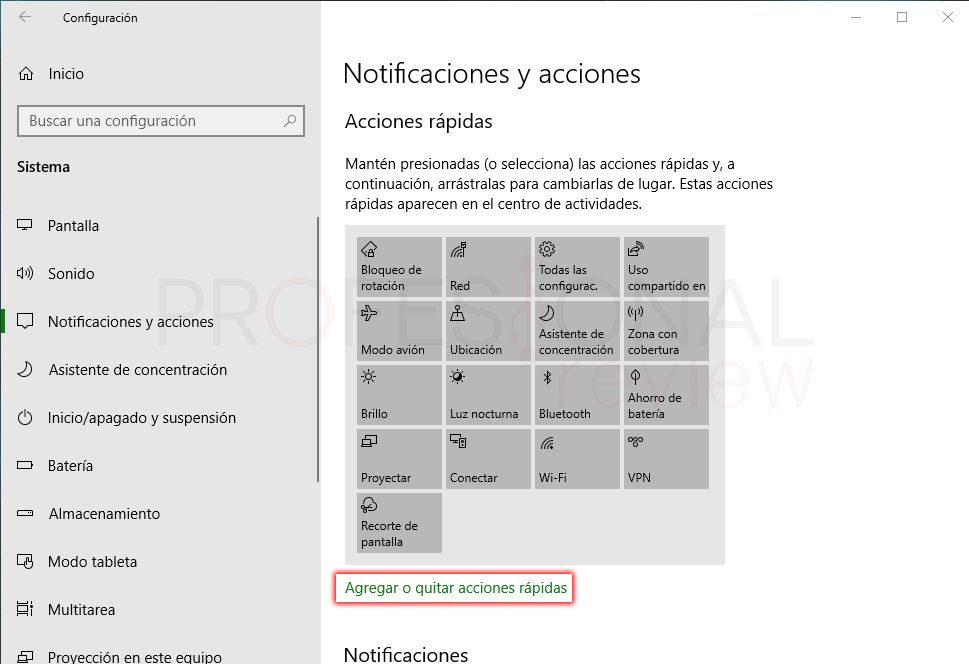 Modo avión Windows 10 paso 06