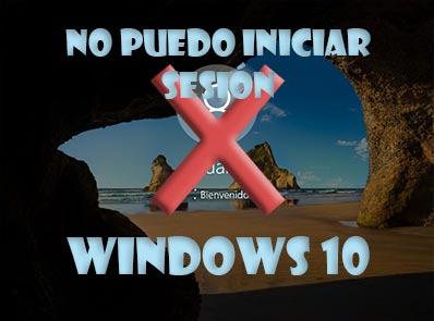 No puedo iniciar sesión en Windows 10