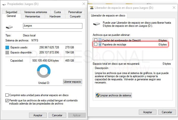 Papelera de reciclaje de Windows 10 tuto03