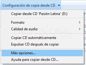 Pasar CD a MP3 Windows 10 tuto02