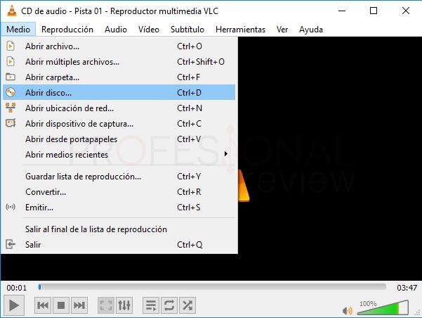 Pasar CD a MP3 Windows 10 tuto08