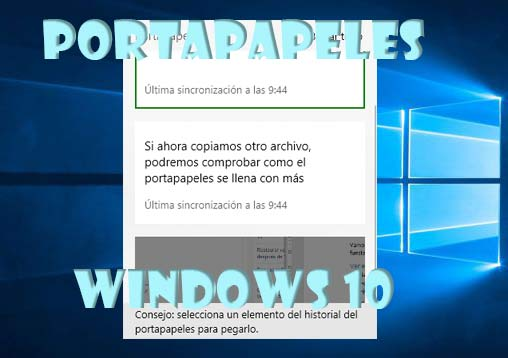 portapapeles Windows 10