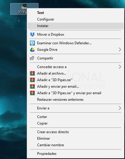 Protector de pantalla Windows 10 tuto07