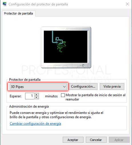 Protector de pantalla Windows 10 tuto08