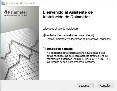 Rainmeter Windows 10 tuto01