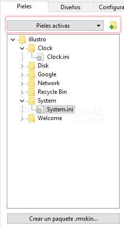 Rainmeter Windows 10 tuto04