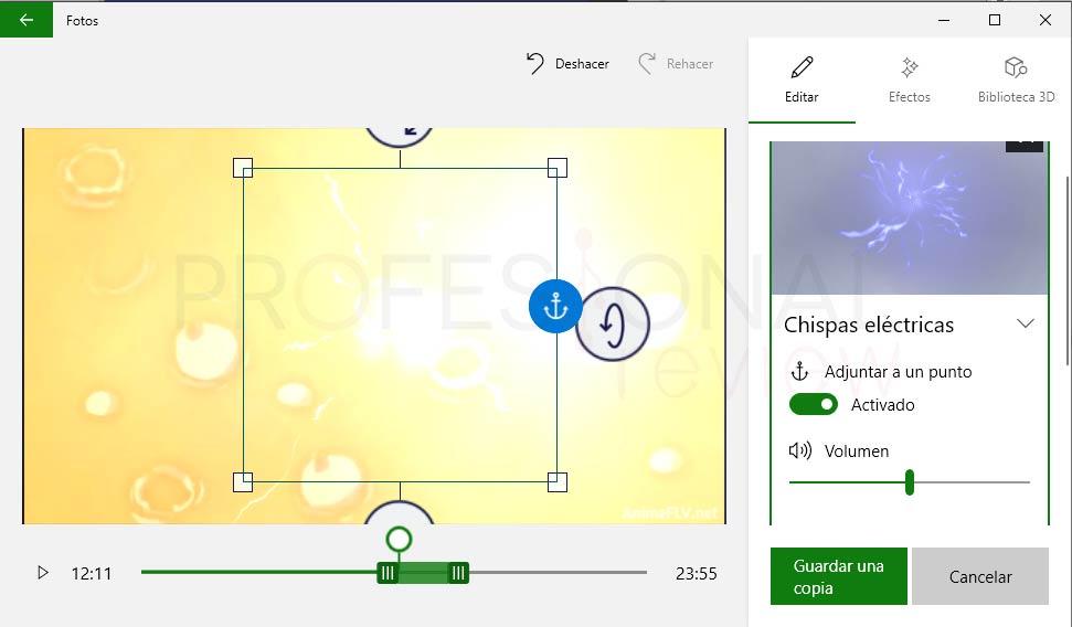 Recortar vídeo en Windows 10 paso 05