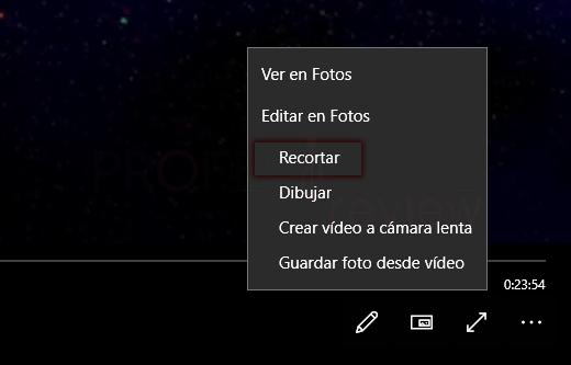 Recortar vídeo en Windows 10 paso 07