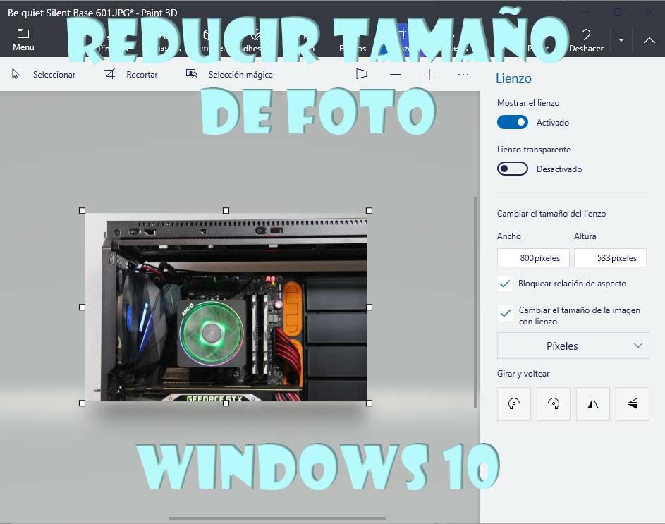 reducir tamaño de foto en Windows 10