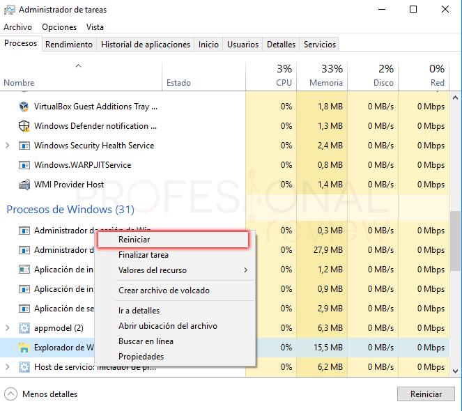 Reparar menú inicio Windows 10 paso 08