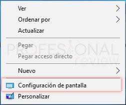 Cambiar resolución de pantalla en Windows 10 tuto01