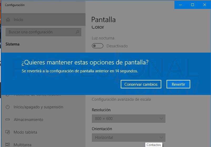 Cambiar resolución de pantalla en Windows 10 tuto03
