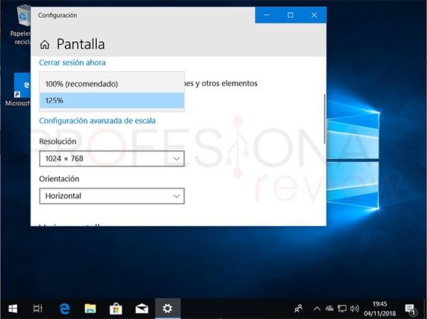 Cambiar resolución de pantalla en Windows 10 tuto04
