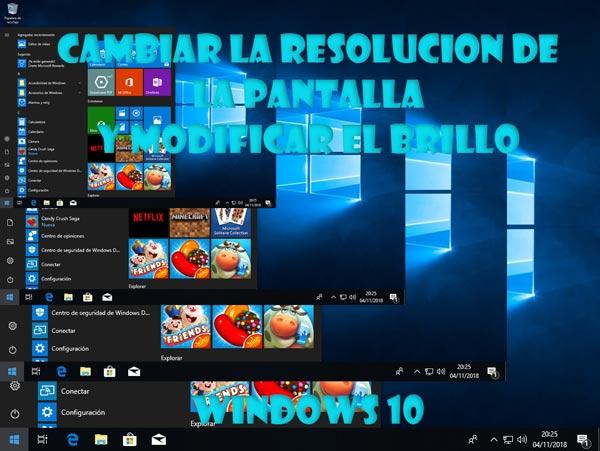 Cambiar resolución de pantalla en Windows 10