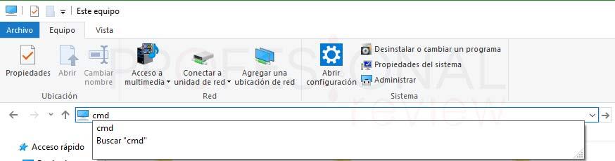 Símbolo del sistema Windows 10 tuto05