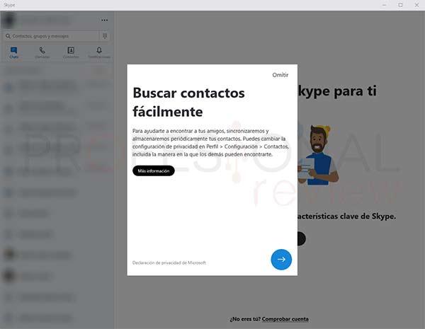 Skype Windows 10 tuto01