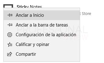 Sticky Notes Windows 10 tuto02