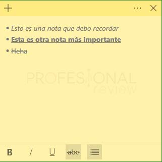Sticky Notes Windows 10 tuto06