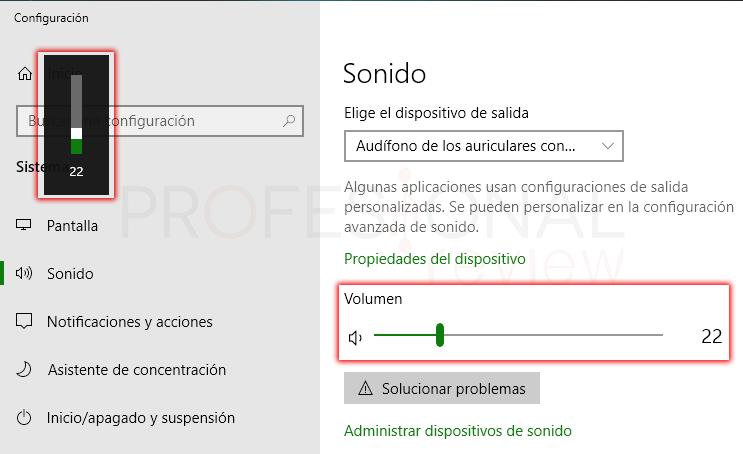 Subir volumen en Windows 10 paso 03
