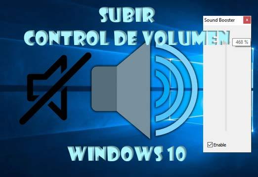 Subir volumen en Windows 10