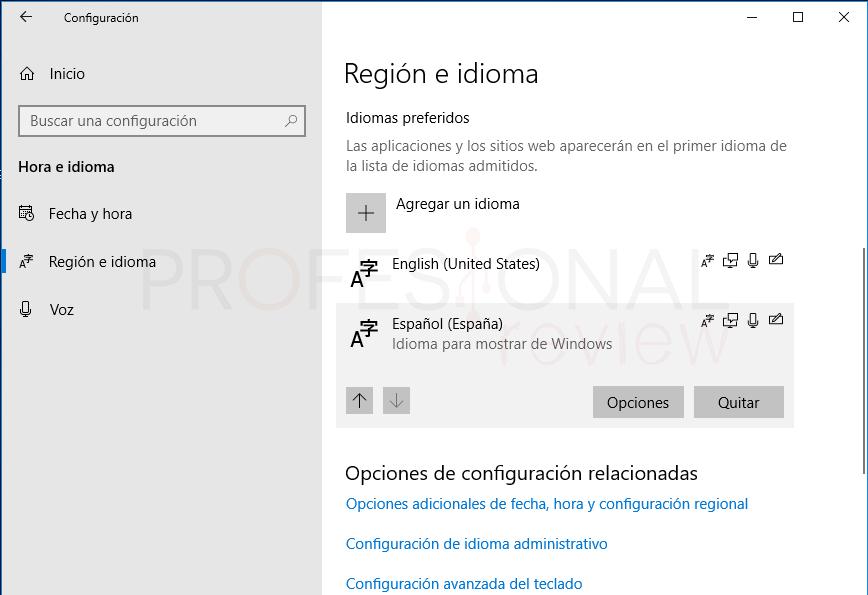 Teclado desconfigurado en Windows 10 paso07
