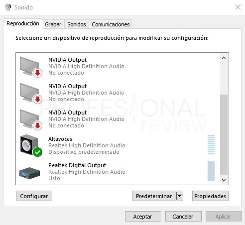 Dos salidas de audio a la vez en Windows 10 paso 05