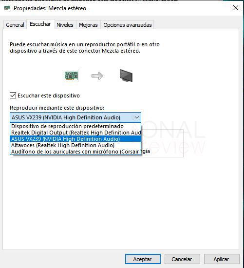 Dos salidas de audio a la vez en Windows 10 paso 09