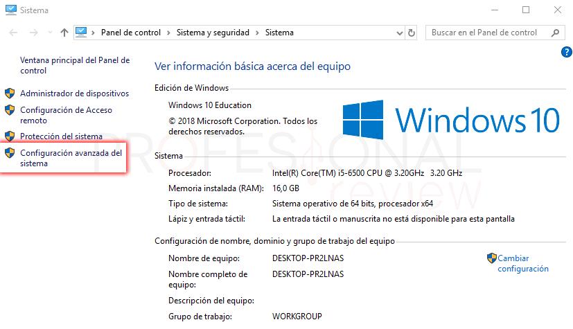 Variables de entorno Windows 10 tuto02