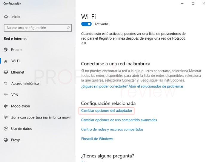 Ver contraseña WiFi en Windows 10 tuto02