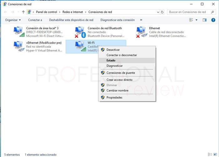 Ver contraseña WiFi en Windows 10 tuto03