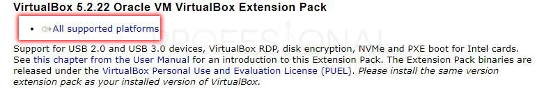 VirtualBox Extension Pack tuto03
