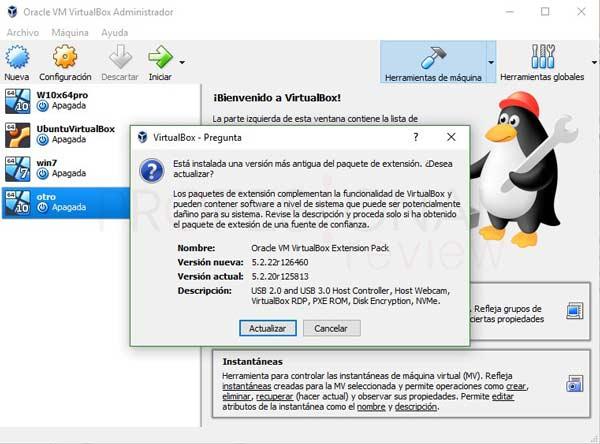 VirtualBox Extension Pack tuto05