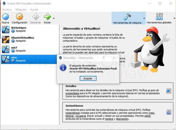 VirtualBox Extension Pack tuto06