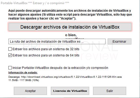 VirtualBox portable paso 3
