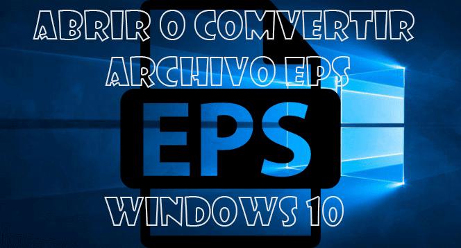 Abrir un archivo EPS