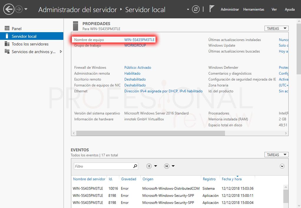 Active Directory en Windows Server 2016 paso 06