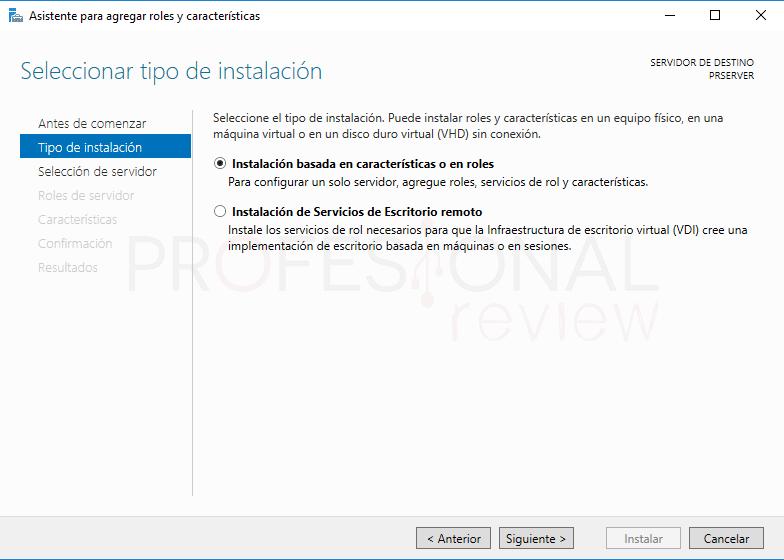 Active Directory en Windows Server 2016 paso 10