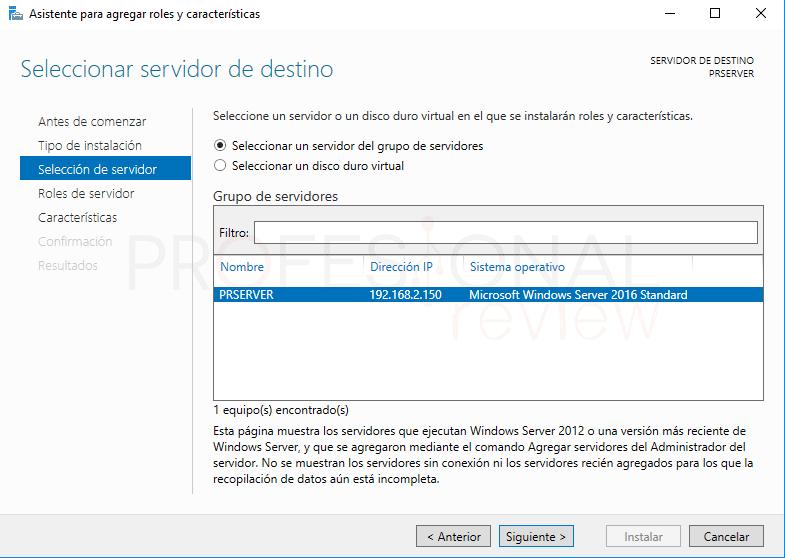 Active Directory en Windows Server 2016 paso 11