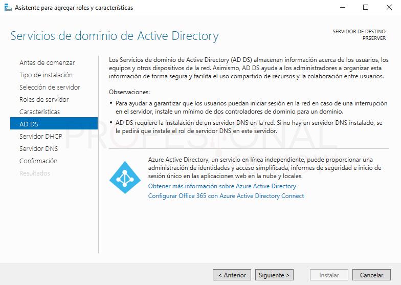 Active Directory en Windows Server 2016 paso 13