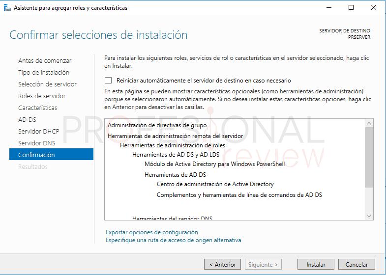 Active Directory en Windows Server 2016 paso 15