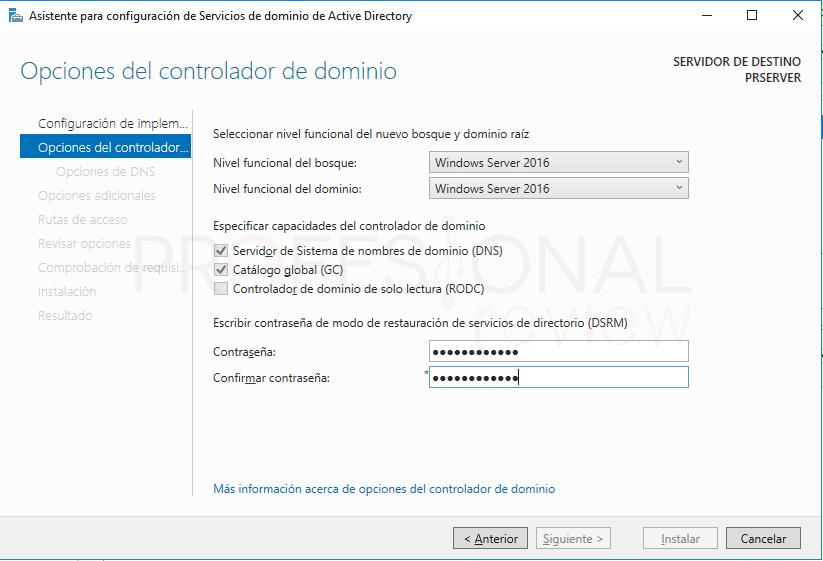 Active Directory en Windows Server 2016 paso 18
