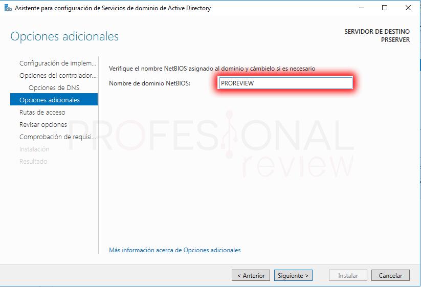 Active Directory en Windows Server 2016 paso 19