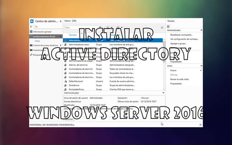 Active Directory en Windows Server 2016