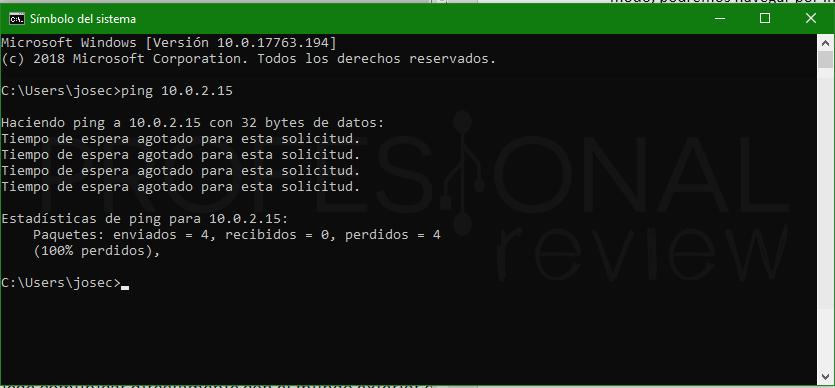 Conectar dos máquinas virtuales en red VirtualBox paso 07