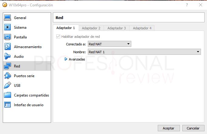 Conectar dos máquinas virtuales en red VirtualBox paso 14