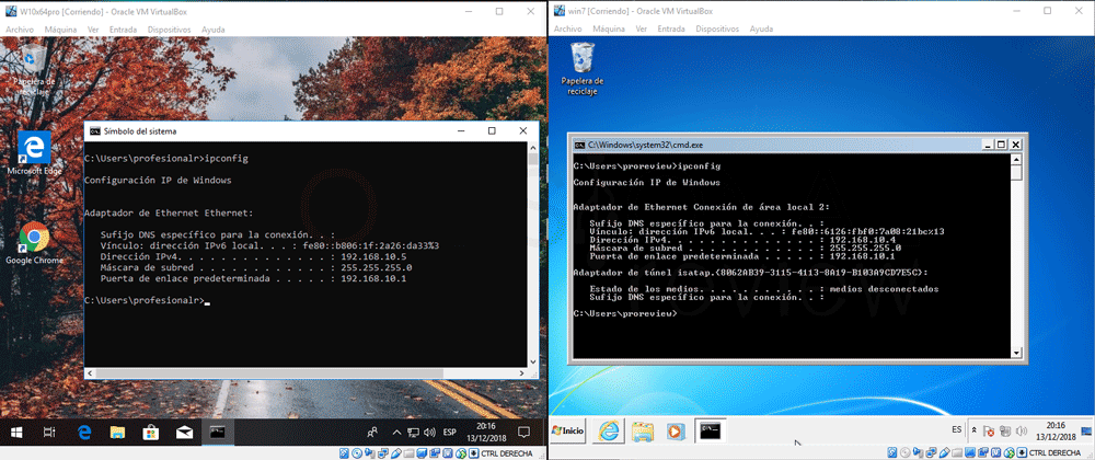 Conectar dos máquinas virtuales en red VirtualBox paso 15