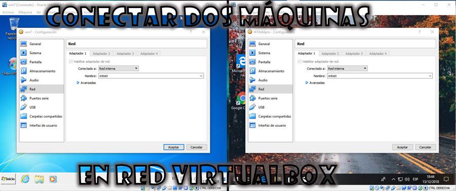 Conectar dos máquinas virtuales en red VirtualBox