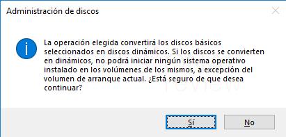 Convertir en disco dinámico paso 04